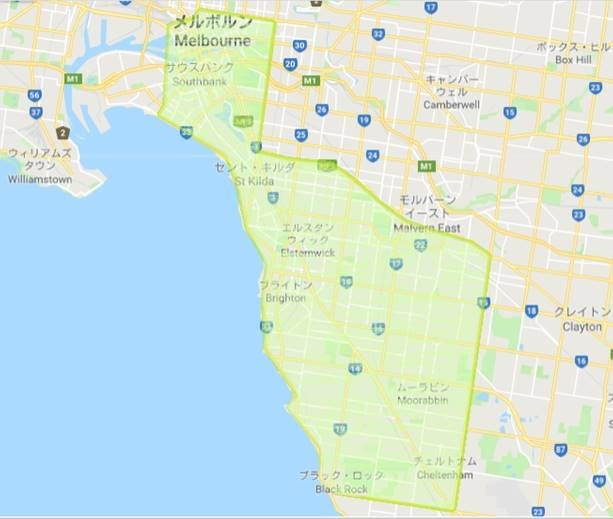 wagyu Melbourne delivery map